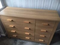 Oak Chest of Drawers - 8 in Total