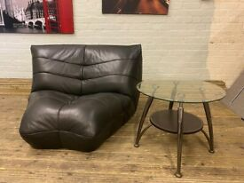 HARVEYS DESIGNER BLACK LEATHER GAMING OR CHILL OUT ARMCHAIR VERY NICE REAL COMFY