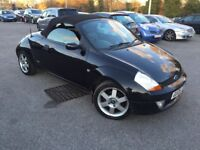 2005 FORD KA CONVERTIBLE 1.6 LUXURY WITH MOT