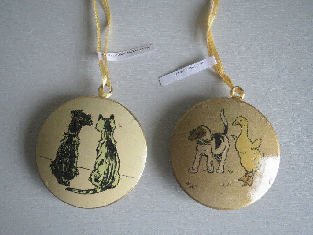Dog and cat christmas tree decorations