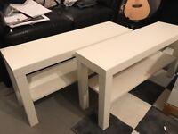 2x IKEA small tables.