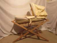 Moses Basket & Stand. Mamas & Papas Medow Range. Excellent condition. Pet & Smoke free home.