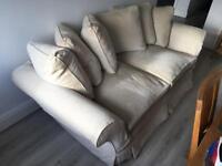 Cream / White Sofa Couch