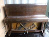 Antique Monington and Weston Upright Piano Metal Frame in need of some TLC.