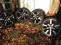 4 Rial alloy wheels and tyres PCD 5x114.3