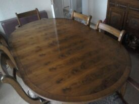 Yes dining table and chairs