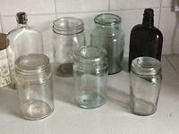 Old glass bottles/jars