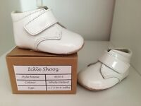 Baby shoes white patent leather