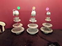 Cake stands with a milk jug as a handle