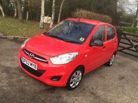 2014, I10 HYUNDAI RED MANUAL CAT C ONE YEAR MOT LOW MILES 5000 IMMACULATE CONDITION