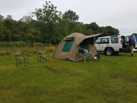 Campmor Outdoor canvas tent and furniture
