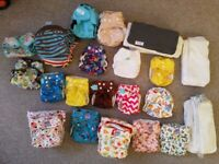 Reusable nappies washable all-in-one nappy bundle