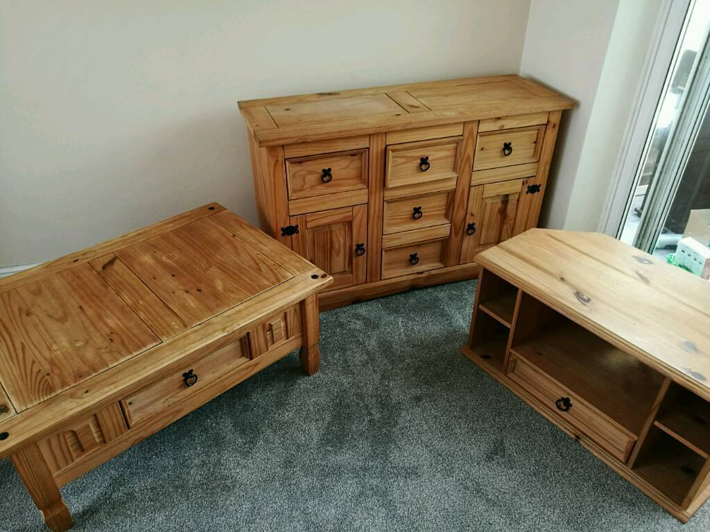 Pine Living Room Furniture Sets Sold Pine Living Room Set Of Tv Stand Coffee Table And Sideboard