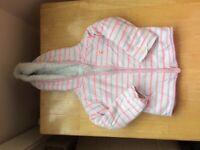 Fleece lined zip up - 6 - 12 months