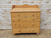 Large Victorian Pine wooden chest of drawers Unique (Delivery)
