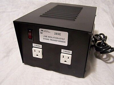 HAMMOND 289E Line Isolation STEP DOWN 230V To 115V 220 /110 VOLTAGE TRANSFORMER