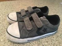 Converse grey suede shoes - child size 9