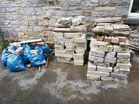 Concrete block rubble
