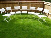 Cream Folding Garden Chairs - 7 available @ £5 each