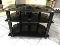 Gloss black glass tv cabinet