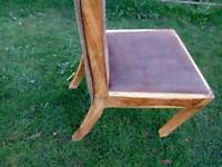 6-john lewis,dinning chair oak and brushed leather