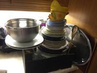 Job lots of kitchen plates and bowl , mugs , tray