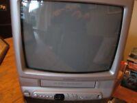 Goodmans GTV372 Portable TV & VHS Combo - 14 Inch- No Remote Control