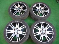 "BMW M3 SPORT SET OF 4 17"" STAGGERED ALLOY WHEELS REF 1"
