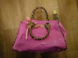 """Paul's Boutique pink handbag """"Barbie"""" style"""