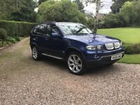 VG Condition BMW X5 Blue 3D auto Sport LE MANS, 5 door full leather 2006 plate MOT May 2019