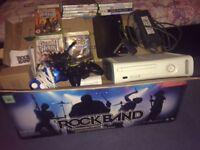 Xbox 360 bundle with rockband