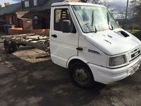 IVECO DAILY RECOVERY TRUCK 2,8 XLWB EXCELLENT RUNNER STRONG ENGINE BOX AND CHASSIS IDEAL PROJECT