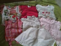6-12 months baby girl clothes bundle