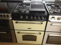 Cream/black 60cm gas cooker(with griddle)
