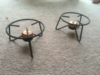 Table food warmer - candle
