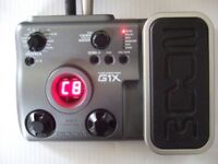 Zoom G1X Electric Guitar Effects Pedal :- Amp Chorus Flanger Wah Delay Reverb Drums etc