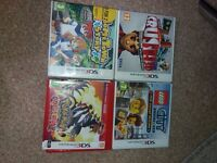 4 nintendo 3ds games/ amibo characters