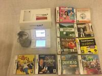 NINTENDO DSi console with 2 cameras , boxed with 10 games -bargain £49