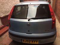 Fiat Punto 1.2 petrol 5dr manual 2003 reg clean reliable economical. New 1 yr mot.