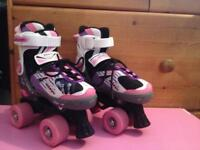 Adjustable roller boots, size 11-1