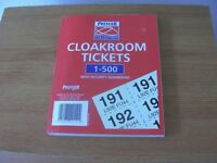 Cloakroom Raffle Tickets Free