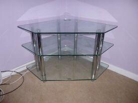 Quality glass and chrome TV stand. Superb condition.