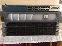 Complete Setup 3 X HP G8 Servers NetApp FAS2200 3560-X Cisco Switch -Sensible offers accepted on lot