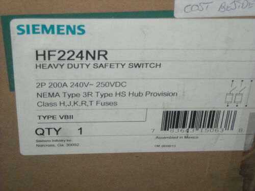 Siemans  HF224NR   200 amp   Safety Switch