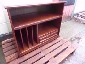 Solid Wood Music Hifi Stand Very Heavy Delivery Available £5