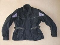 Frank Thomas Waterproof Motorcycle Jacket Textile Black (XXXL) 3 in 1 detachable linking. PERFECT