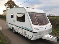 Abbey Aventura 2 Birth Touring Caravan in Mint Condition, End Bath/Dress Room & Walk in Shower