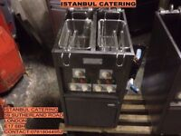 VALENTINE COMMERCIAL DOUBLE BASKET TWIN TANK ELECTRIC FRYER KEBAB CAFE TAKEAWAY DINER RESTAURANT PUB