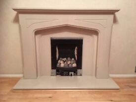 Marble Effect Fire Surround, Fire NOT included