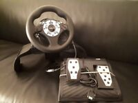 PS3 Racing steering and pedals